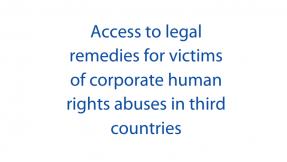 El Parlamento Europeo presenta un informe sobre empresas y derechos humanos